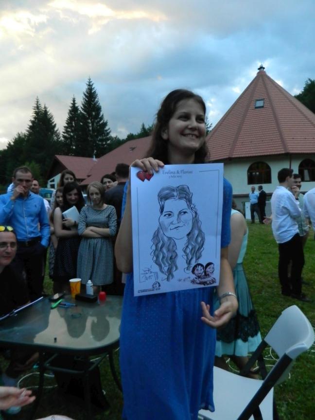 Caricaturi nunta Cheia by Adrian Bighei