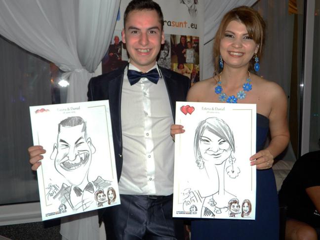 Caricaturi la nunta ,Salon du Mariage, Bucuresti