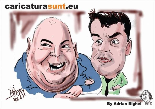 Caricatura Toni Ionescu by Adrian Bighei