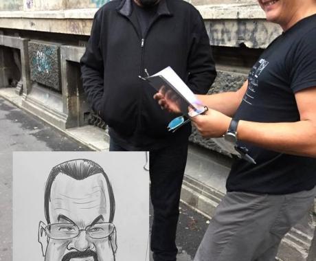 Caricatura Steven Seagal