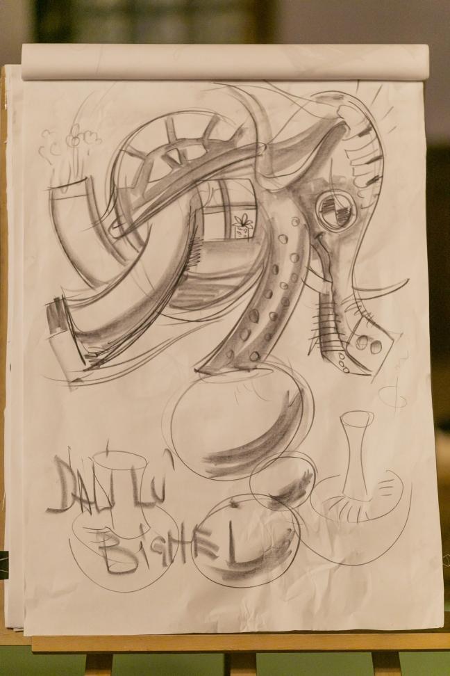 Expozitie Salvador Dali ,Palatul Cantacuzino, Busteni