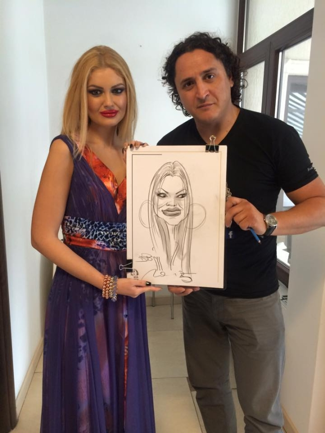 Caricatura - portret a prezentatoarei Flavia Apostol