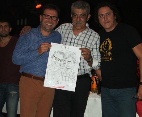 Caricaturi cadou la petrecerea aniversara a SMURD, Targu Mures