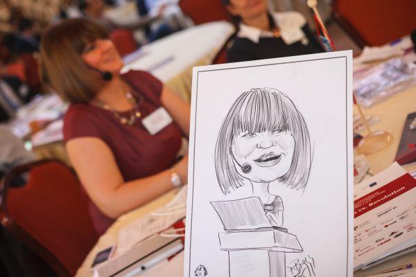 Caricaturi la evenimente, conferinte, targuri si expozitii by Adrian Bighei