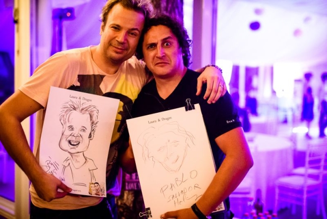 Caricatura artistului Dan Helciug by Adrian Bighei