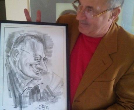 Caricatura jurnalistului Sorin Rosca Stanescu
