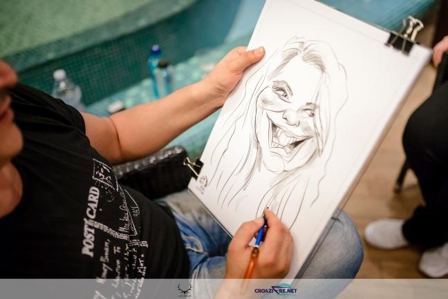 Caricaturi pe vas de croaziera by Adrian Bighei