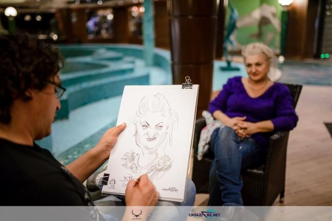 Caricaturi pe vas de croaziera by Caricaturasunt.eu