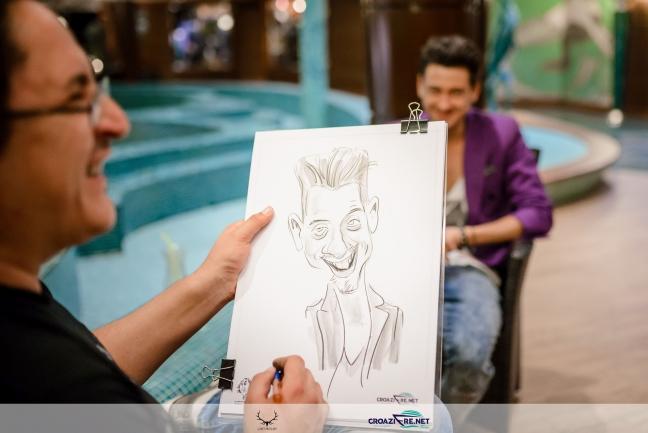 Caricaturi pe vas de croaziera, Adrian Bighei