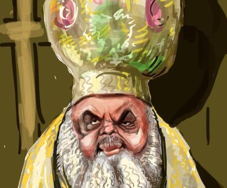 Caricatura Patriarhului Bisericii Ortodoxe Romane
