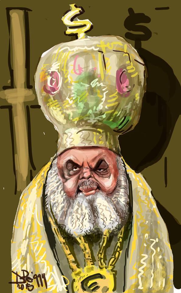 Caricatura Preafericitul Părinte Daniel, Patriarhul Bisericii Ortodoxe Române
