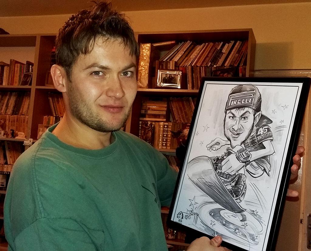 Portret caricatura cadou, Adrian Bighei