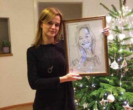 Caricatura  personalizata sub forma de cadou