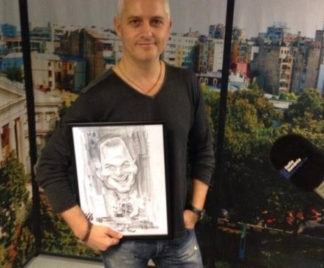 Caricatura lui Virgil Iantu