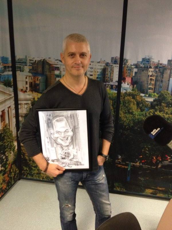 Caricatura - portret Virgil Iantu