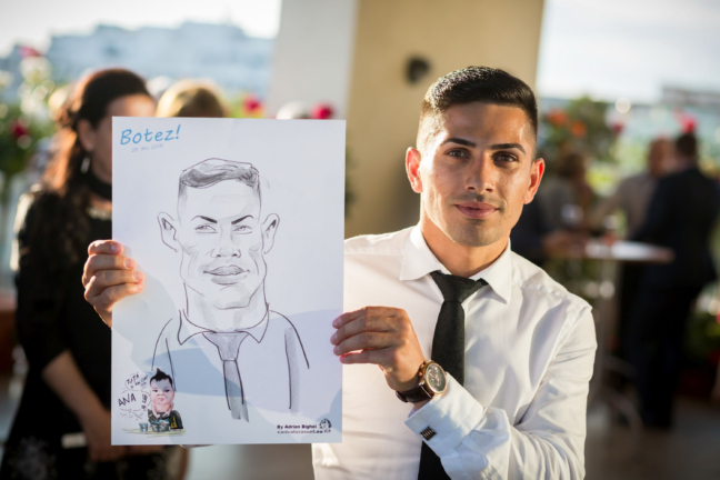 Caricaturistul Adrian Bighei la botez