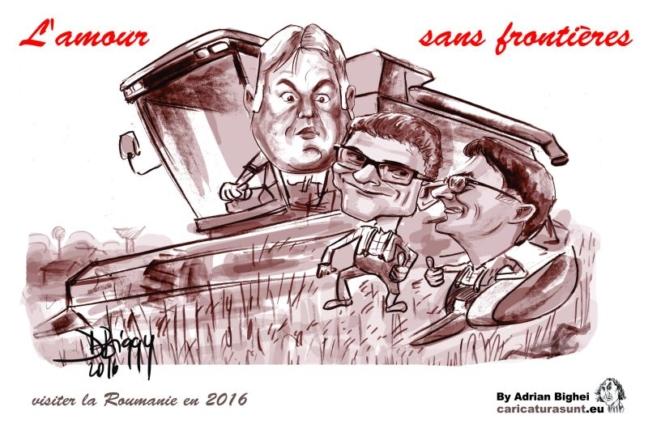 Caricatura de grup de Adrian Bighei