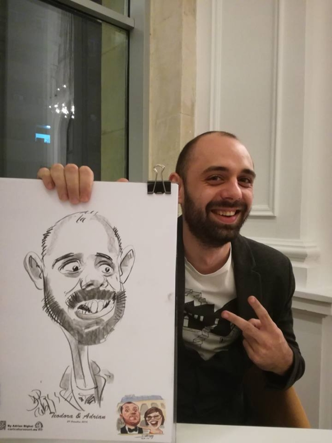Caricaturi eveniment cu Adrian Bighei