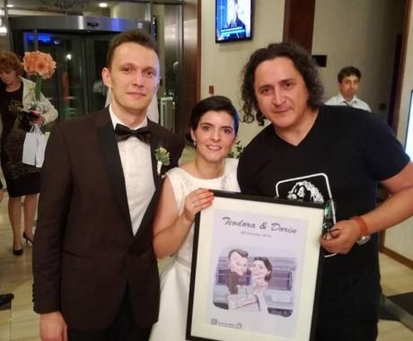Caricaturi -portrete la nunta, Bistrita, octombrie 2016