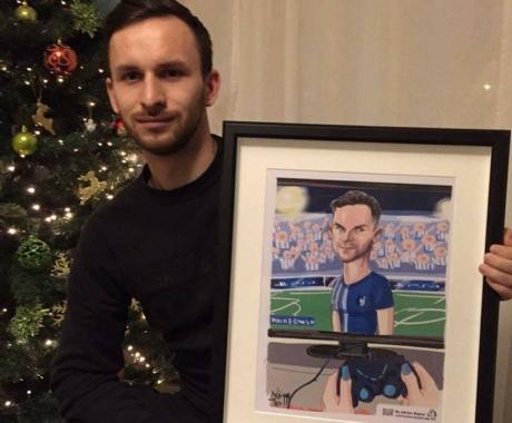 Caricatura fotbalistului Alexandru Ciucur