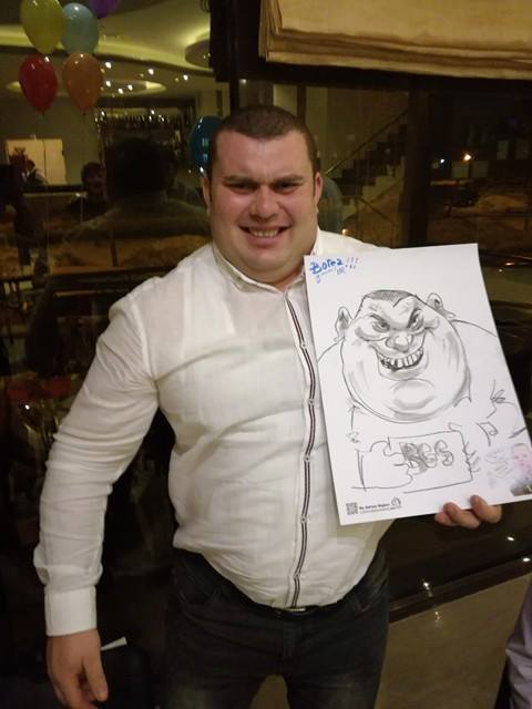 Caricaturi si divertisment la petreceri cu Adrian Bighei