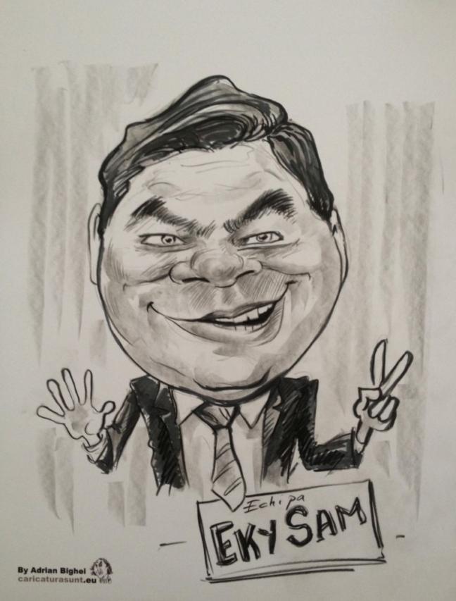 Caricatura alb negru by Adrian Bighei