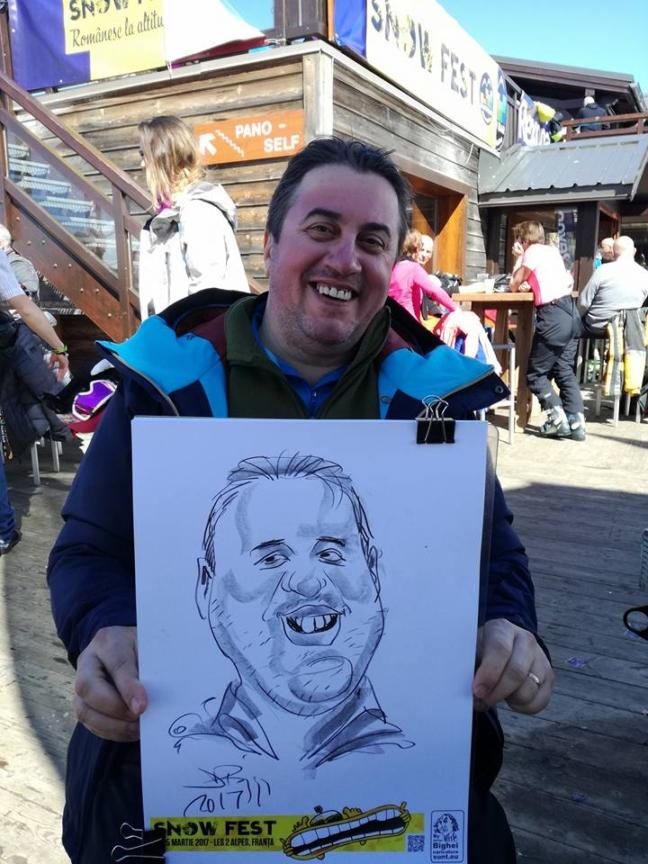Caricaturi la Snow Fest - Franta