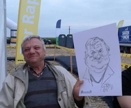Caricaturi cu fermieri la Cocora, Ialomita