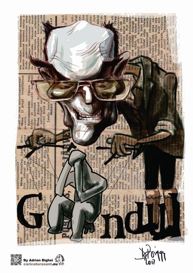 Caricatura Cristian Tudor Popescu