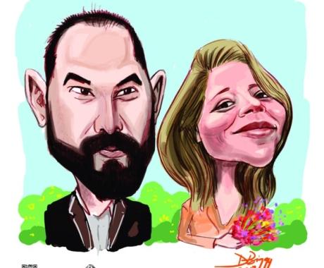 Caricatura de cuplu: cadoul ideal pentru tinerii casatoriti!