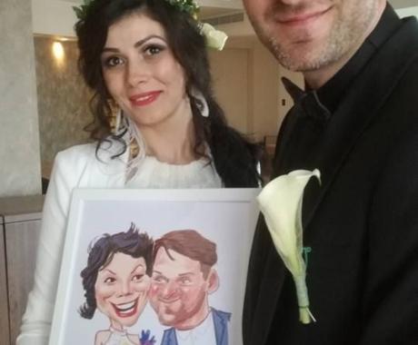 Caricaturi in loc de marturii la nunta!