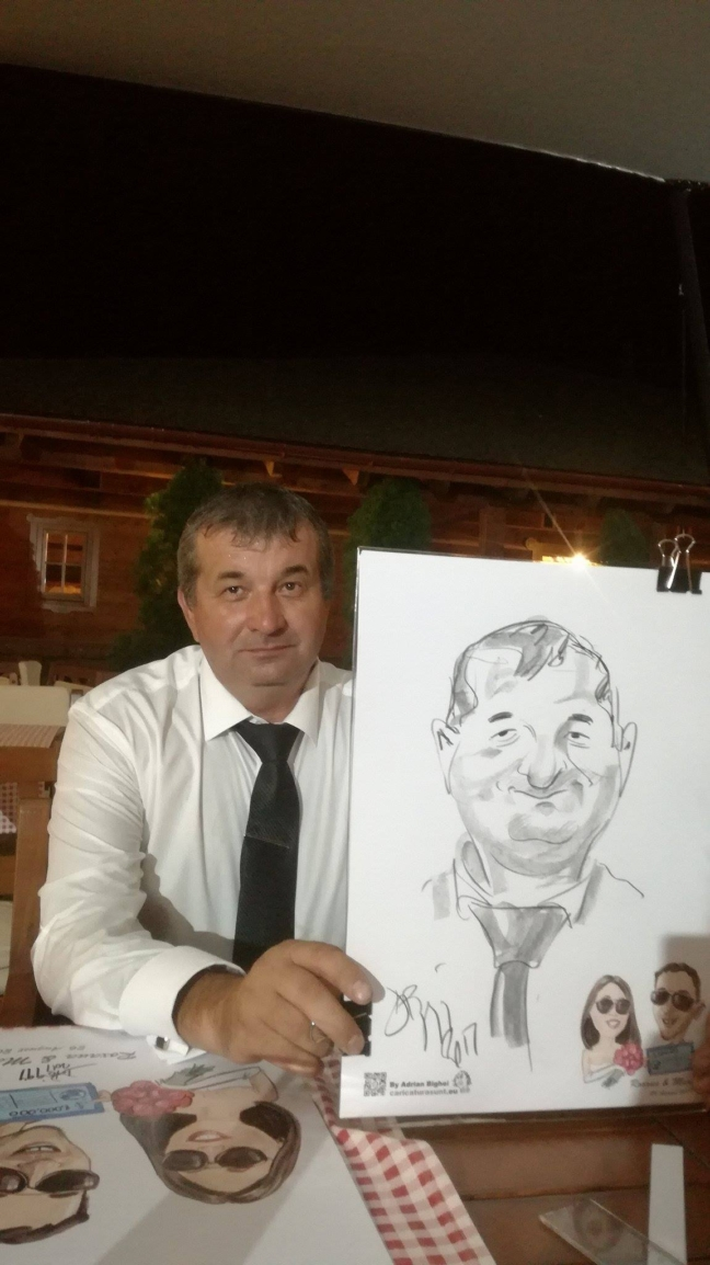 Caricaturi sketch in creion by Adrian Bighei