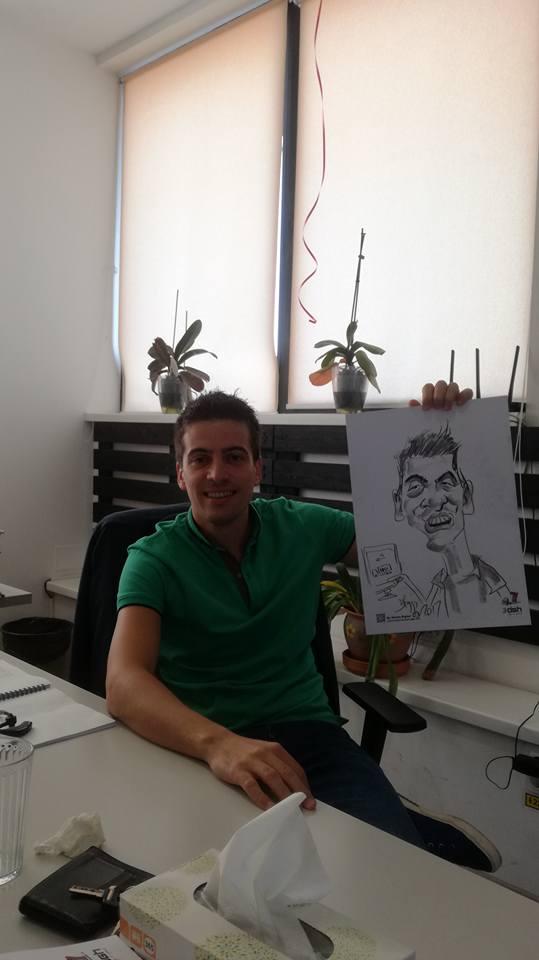 Petrecere corporate cu caricaturi