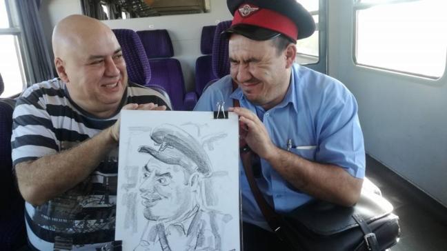 Caricaturi la Orsova cu Toni Ionescu
