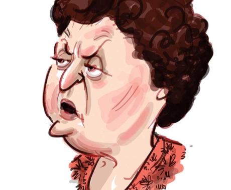 Caricatura Tamara Buciuceanu