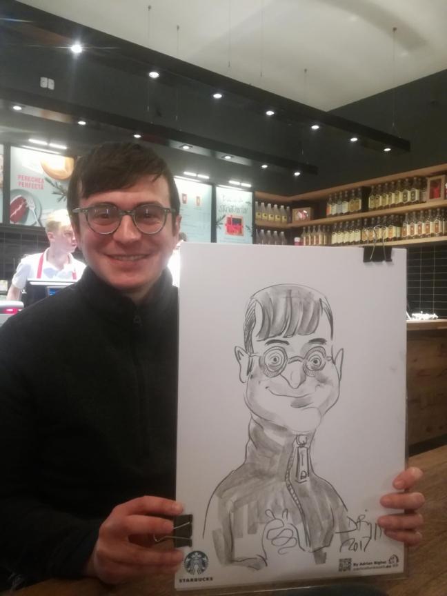Caricaturi la Strabucks de Adrian Bighei