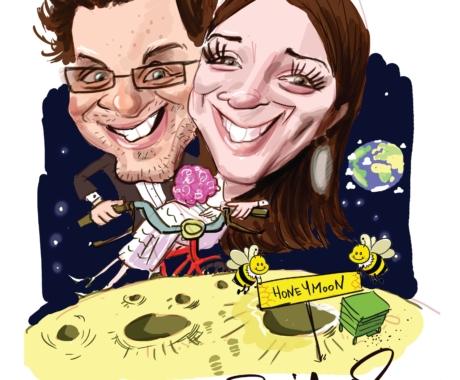 Caricatura digitala de cuplu