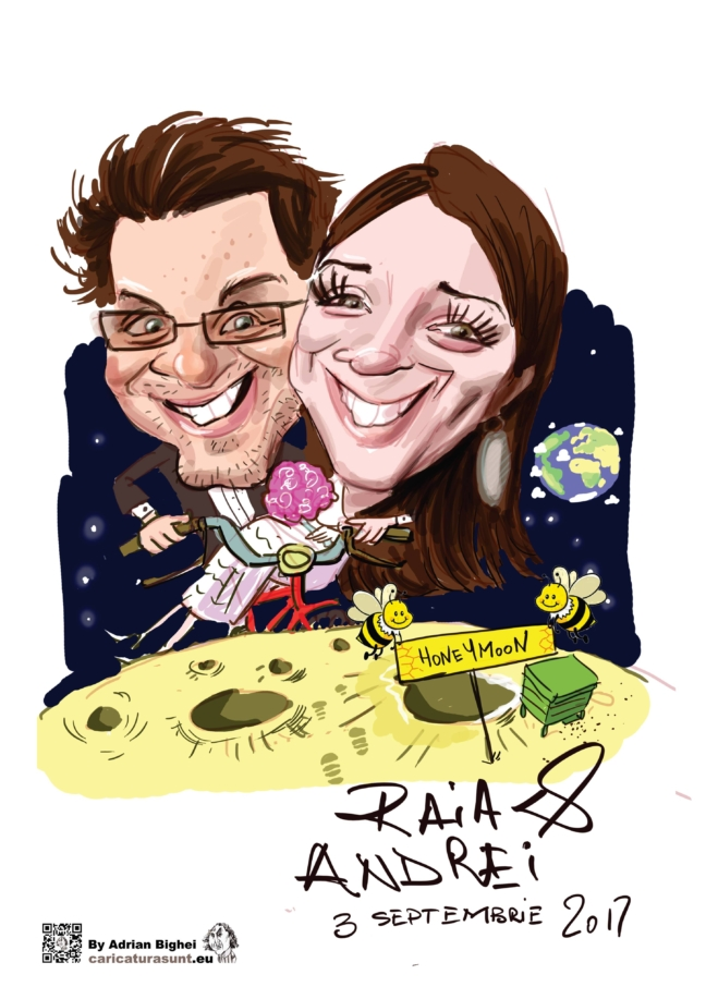 Caricatura de cuplu by Bighei Adrian