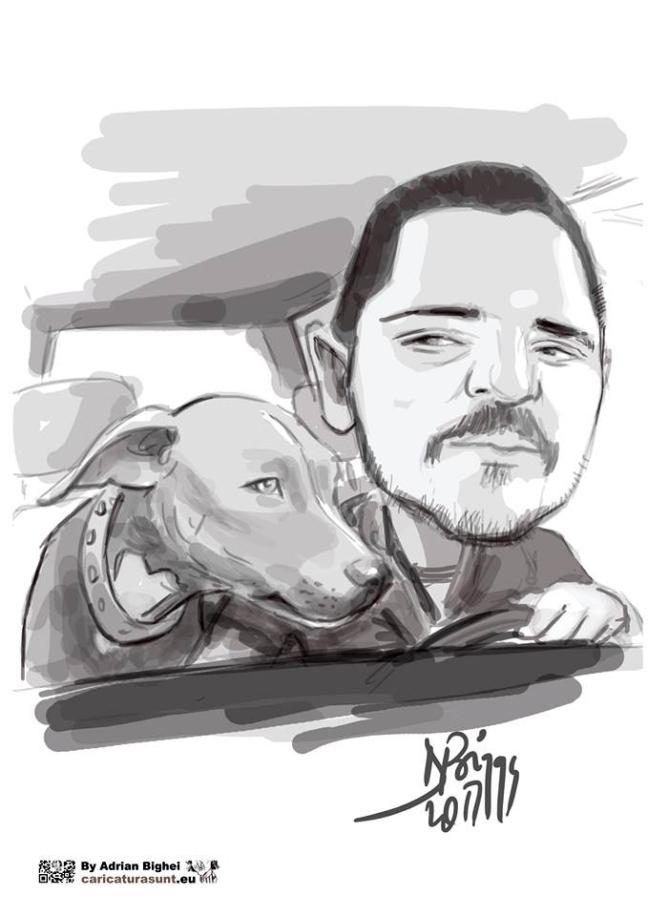 Cadoul inspirat de Ziua Indragostitilor -caricaturi personalizate