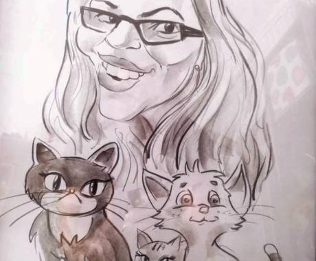 Un cadou inspirat pentru Ziua Indragostitilor – caricaturi portret