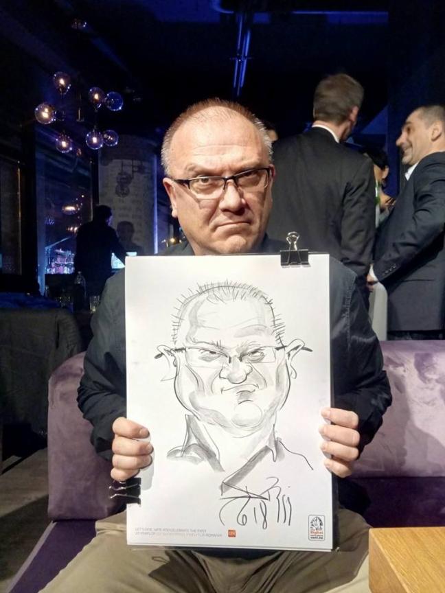 Adrian Bighei - Caricaturist la evenimente