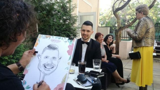Caricaturist la evenimente - Adrian Bighei