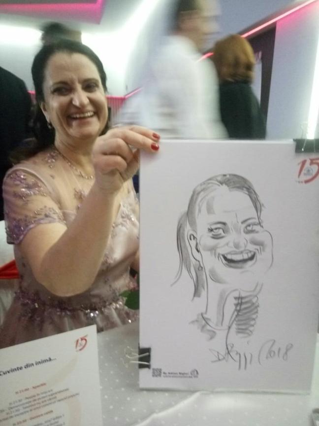 Caricaturist la evenimente corporate - Adrian Bighei