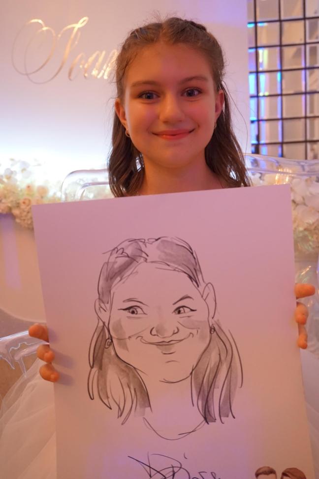 caricaturi, portrete - marturii la nunta