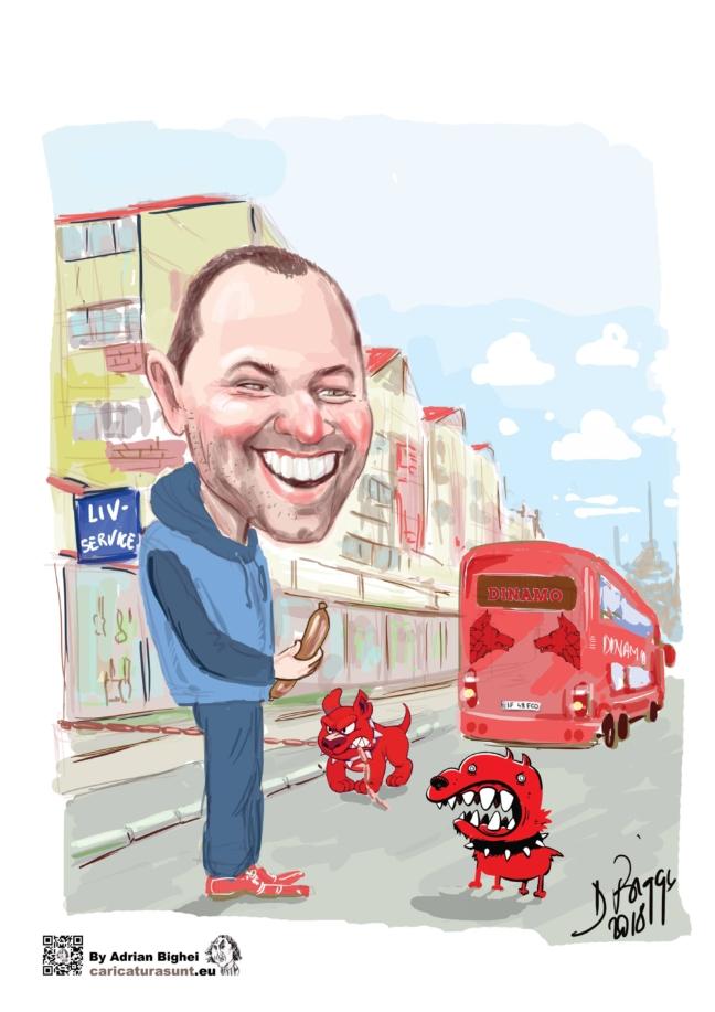 Cadoul ideal -caricatura personalizata cu tema de Adrian Bighei