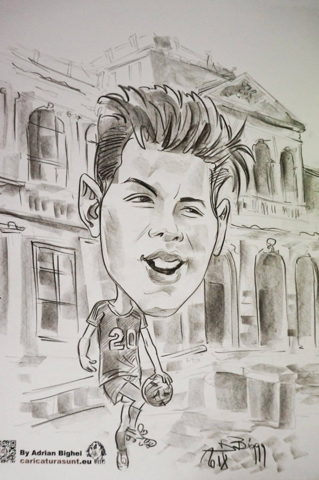 Caricatura de Adrian Bighei