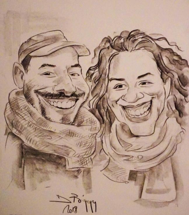 Caricatura de cuplu by Adrian Bighei