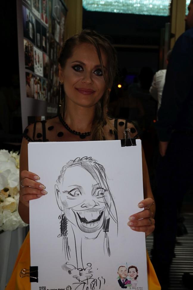 Caricaturist la evenimente -Adrian Bighei