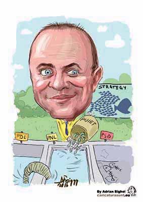 Caricatura personalizata de Adrian Bighei