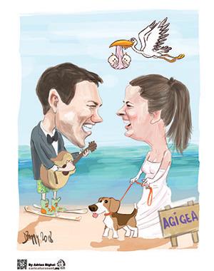 Caricatura – idee de cadou pentru nunta